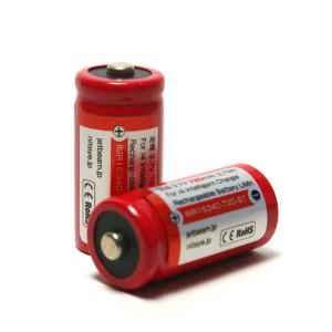 ジェットビーム 充電式リチウムイオン電池 CR123A型 2本パック IMR16340-720-BT