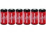フラッシュライト用リチウム電池6個パック