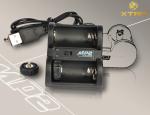リチウムイオン池充電器 CR123型2本同時充電 MP2