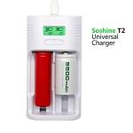Soshine リチウム電池用充電器 最大2本同時充電 バックライト付液晶モニタ T2