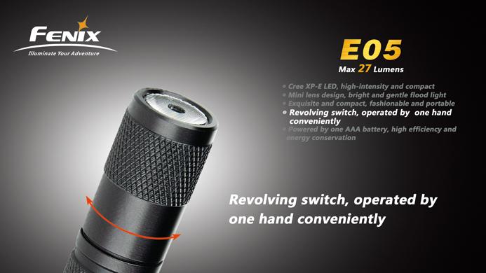 フェニックス 小型LED懐中電灯 ブラック E05-BK