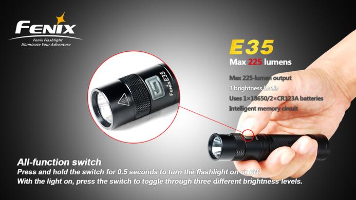 フェニックス LED懐中電灯 E35 スイッチ画像