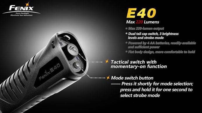 フェニックス LED懐中電灯 E40 テールスイッチ画像