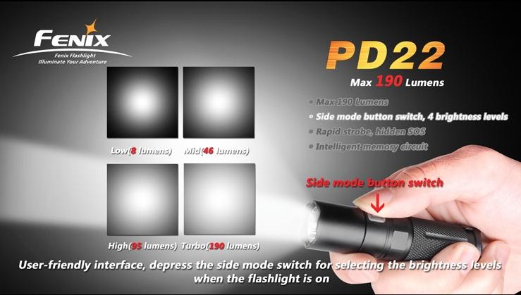 フェニックス 小型LED懐中電灯 PD22