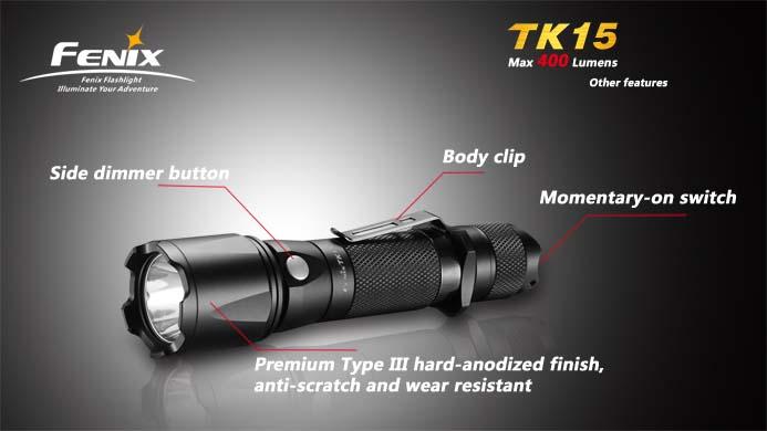 フェニックス 強力LED懐中電灯 TK15-S2