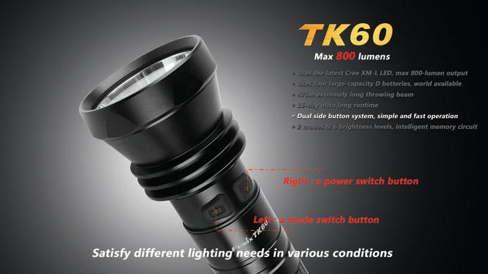 フェニックス 大型強力LED懐中電灯 TK60