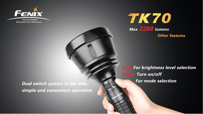 フェニックス 大型超強力LED懐中電灯 TK70